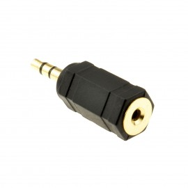 2.5mm Stereo Socket to 3.5mm Stereo Jack Plug Adapter
