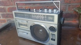 Hitatchi Radio Cassette retro prop