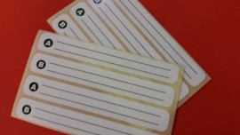 A/B side label strips x 200 pairs