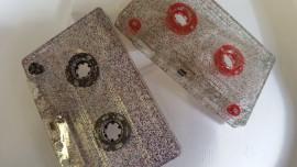 Glitter cassette tapes