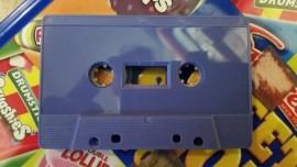 Violet cassette tape