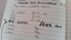 Duplicated cassette tapes