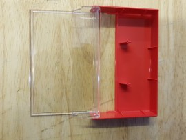 Red cassette library case