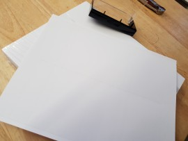 4 x J card inserts DIY sheets