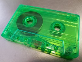 Clear green cassettes NEW