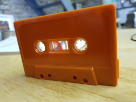 Rustic Orange cassette tape