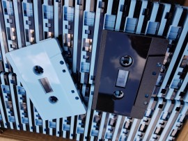 Half Blue/black cassette
