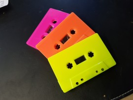 neon pink, orange or yellow cassette