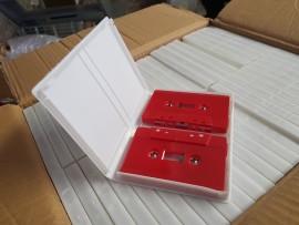 Double white cassette case
