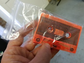 sealable clear bag, fits cassette