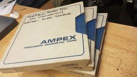 "Ampex 1/2"" x 10.5 spool and box"
