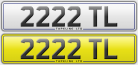 2222 TL dateless number plate