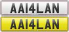 AA14LAN number plate