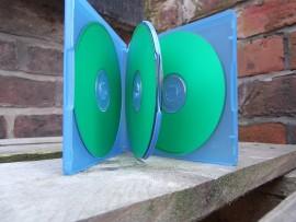 Blue 4 Way CD-R Case