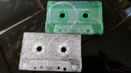 green or silver glitter tapes