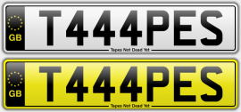 T444PES number plate