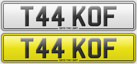 T44 KOF sold   Pilots number plate