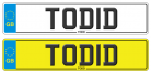 TOD number plate TODID