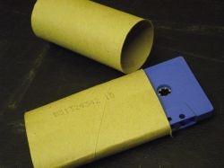 Cassette Sleeve, recycled inner toilet roll tube