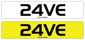 24VE raver rave number plate