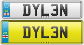 DYL3N dylan dylen number plate