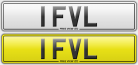 1 FVL number plate