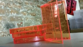 Orange clear cassette cases