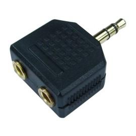 3.5mm Jack Headphone Splitter Adaptor 1 x Stereo Plug to 2 x Sockets